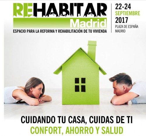 Cartel feria Rehabitar Madrid