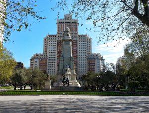 Imagen de la Plaza de España, donde se celebrará Rehabitar Madrid